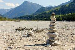 Riverbed alpino Fotografia de Stock