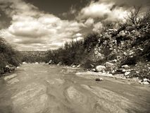 Riverbed. In Arizona Stock Images