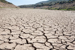 Riverbed in drought Royalty Free Stock Images