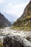 Riverbed in Himalaya mountains Royalty Free Stock Photo