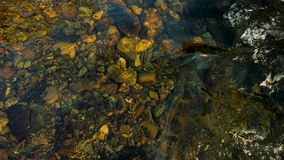 Riverbed at low point stock footage
