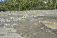 Riverbed Mal rzeka, Matanao, Davao Del Sura, Filipiny Zdjęcie Stock