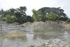 Riverbed Mal rzeka, Matanao, Davao Del Sura, Filipiny obraz stock