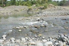 Riverbed Mal rzeka, Matanao, Davao Del Sura, Filipiny fotografia royalty free