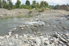 Riverbed Mal rzeka, Matanao, Davao Del Sura, Filipiny zdjęcia stock