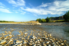 Riverbed in the morning Stock Image