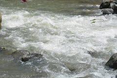 Riverbed Napan rzeka, lokalizujący przy Sitio Napan, Brgy Goma, Digos miasto, Davao Del Sura, Filipiny fotografia royalty free
