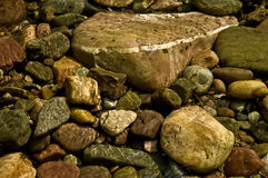 Riverbed rocks Royalty Free Stock Photos
