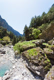 Riverbed of the Samaria Gorge Royalty Free Stock Images