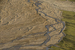 Riverbed top view Royalty Free Stock Image