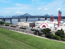 Riverboat Casino. On the Mississippi River near the Interstate 20 bridge in Vicksburg Mississippi stock photography