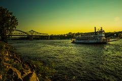 Riverboat della regina di Crosse della La Fotografie Stock Libere da Diritti