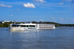 Riverboat on the Dunabious  river. Hungary Stock Photography