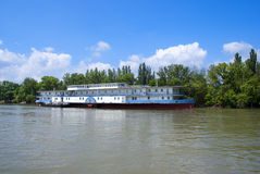 Riverboat on the Dunabious  river Royalty Free Stock Images