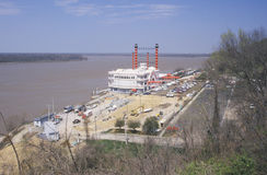 Riverboat gambling boat docked in Vicksburg, MS Royalty Free Stock Photo
