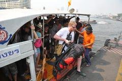 Riverboat podróż Zdjęcia Royalty Free