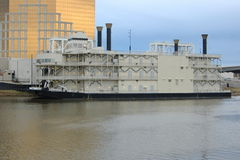 Riverboat Queen. Riverboat in Shreveport,La. that houses a casino royalty free stock image