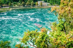 Riverboat on the Rheinfall Stock Images