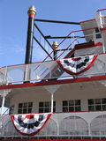 Riverboat Smokestack & Deck Stock Photography