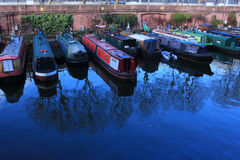 Riverboats on a Canal at Marylebone Stock Photos