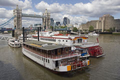 Riverboats at the Towerbridge Stock Image