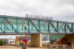RiverCentre Walkway at Xcel Energy Center Stock Photos