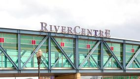 RiverCentre Walkway at Xcel Energy Center stock video footage