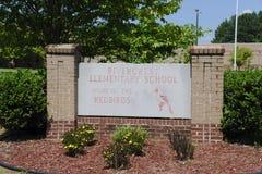 Rivercrest Elementary School Sign Bartlett, Tennessee. Rivercrest Elementary School is a kindergarten through 6th grade school located in  Bartlett, Tennessee Royalty Free Stock Photos