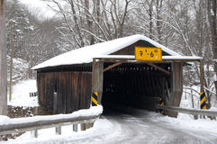 Riverdale Road Bridge Winter. Riverdale Road covered bridge in winter Royalty Free Stock Photo