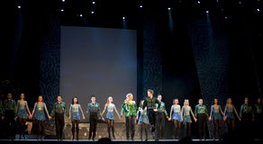 Riverdance aus Irland stockbild