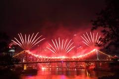 Riverfire节日在布里斯班 库存图片