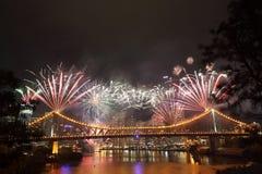 Riverfire节日在布里斯班 免版税库存照片