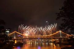 Riverfire节日在布里斯班 免版税库存图片