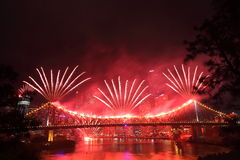 Riverfire Festival in Brisbane Stock Images
