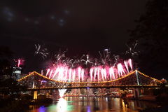 Riverfire Festival in Brisbane Stock Image