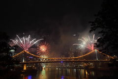 Riverfire Festival in Brisbane Royalty Free Stock Photos