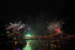 Riverfire Festival in Brisbane Stock Photography