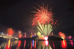 Riverfire Festival in Brisbane - 2014 Royalty Free Stock Photo