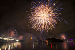 Riverfire Festival in Brisbane - 2014 Stock Photo
