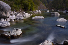 Riverflow. Long exposure of river water royalty free stock photos