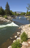 Riverflow in downtown Reno NV. Royalty Free Stock Photos