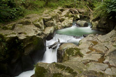 Riverflows. Water flowing in the river Stock Photos