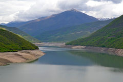 Riverfront of Aragvi Stock Image