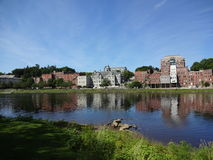 Riverfront. Augusta, Maine river front. Kennebec river Royalty Free Stock Images