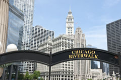Riverfront in Chicago Stock Photo