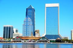 Jacksonville waterfront. The riverfront in the city of Jacksonville, Florida, USA Stock Photos