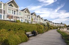 Riverfront condominiums properties Vancouver WA. Royalty Free Stock Photos