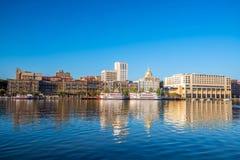 Riverfront of downtown Savannah in Georgia Stock Photo