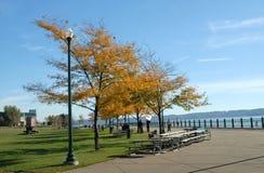 riverfront för 2 park arkivbilder