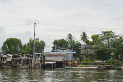 The riverfront house in Bangkok Royalty Free Stock Image